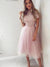 Pink Lace Homecoming Dress A Line Cheap Short Prom Drsess VB5024