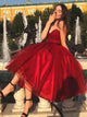 Burgundy Sweetheart Homecoming Dress A Line Cheap Short Prom Drsess VB5025