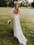 Ivory Lace Wedding Dress Backless Long Sleeve Cheap Sheath # VB5027