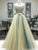 Two Piece Beading Prom Dress A Line Long African Tulle Prom Dress #VB5031