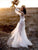 Ivory Lace Long Sleeve Wedding Dresses Beach Tulle Wedding Dress  VB5076