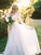 Two Piece Ivory Wedding Dress Lace Cheap Chiffon Wedding Dress # VB5078