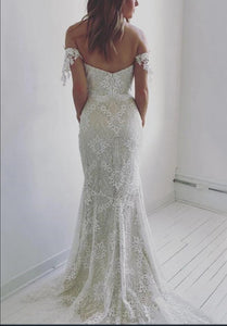 Mermaid Lace Wedding Dress Off The Shoulder Sexy Wedding Dress # VB5079