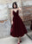 Burgundy Short Prom Dress, Cheap A Line Homecoming Dress # VB5097