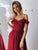 Burgundy Chiffon Prom Dress A Line Cheap Off The Shoulder Prom Dress #VB5099