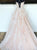 Lace Spaghetti Straps ,A Line Cheap Long Pink Prom Dress #VB5101
