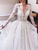 Long Sleeve V Neck Wedding Dresses Tulle Cheap Lace Wedding Dresses VB5110