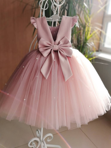 Ball Gown Pink Flower Girl Dresses Tulle Baby Cheap Flower Girl Dresses #VB5120