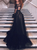 Black Long Sleeve Prom Dresses Tulle High Neck Evening Dresses VB5125