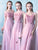 A-line Off-the-shoulder Floor-length Short Tulle Bridesmaid Dresses # VB512