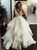A-Line Straps Layered Prom Dress, Ball Gown Plus Size Bridal Gown VB5132