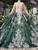 Long Sleeve Plus Size Quinceanera Dresses Ball Gown Vintage Wedding Dress VB5133