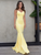 Mermaid Yellow Prom Dresses Sexy Backless African Evening Dresses VB5151