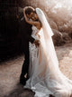A Line Appliques Wedding Dresses Tulle Sweetheart Bridal Gowns With Slit VB5162