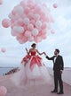 Ball Gown Red Wedding Dresses Tulle Sweetheart Bridal Gowns VB5165