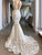 Mermaid Lace V Neck Wedding Dresses Ivory Chic Bridal Gowns VB5175