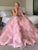 Pink One Shoulder Prom Dress, Ball Gown Plus Size Bridal Gown VB5176