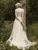 Ivory A Line Lace Wedding Dress Cheap Fashionable Wedding Dress VB5194