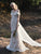 Sheath Lace Wedding Dress Backless Fashionable Wedding Dress With Sleeve VB5198