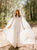 A Line Ivory Lace Wedding Dresses Simple Bridal Dresses With Sleeves VB5199