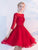 A-line Bateau Knee-length 3/4-Length Tulle Homecoming Dress/Short Dress # VB519