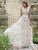 Deep V Neck Flower Cheap Wedding Dresses Colorful Lace In Ivory Tulle Bridal Dresses VB5203