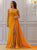 Yellow Chiffon Prom Dress, A Line One Shoulder Evening Dress VB5217