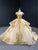 Ball Gown Off The Shoulder Prom Dress Vintage Gold Quinceanera Dress # VB5226