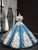 Ball Gown Off The Shoulder  Prom Dress Vintage Sparkling Quinceanera Dress # VB5228