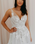 Ivory Lace V Neck Prom Dress, A Line Cheap Evening Dress VB5230