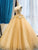 Ball Gown Yellow Prom Dress, Vintage Sweetheart African Evening Dress VB5232