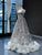 Grey Lace V Neck Prom Dress, A Line Vintage African Evening Dress VB5234