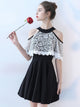 A-line Scoop Short/Mini Sleeveless Chiffon Homecoming Dress/Short Dress # VB524