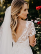 Ivory Tulle Wedding Dresses A Line Cheap Bridal Dresses With Sleeves VB5240