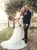 Off The Shoulder Ivory Lace Wedding Dresses With Sleeves VB5241