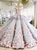 Pretty Flowers Quinceanera Dresses Ball Gown Long Backless Wedding Gowns # VB5244