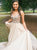 A-Line V Neck Tulle Prom Dresses Vintage Cheap Evening Dress VB5258