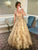 A-Line V Neck Tulle Prom Dresses Vintage Cheap Evening Dress VB5259