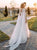 Unique Scoop Tulle Beads Chiffon Ivory Wedding Dresses Beach Wedding Gowns VB5269