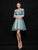 A-line Scoop Short/Mini 3/4-Length Tulle Homecoming Dress/Short Dress # VB526
