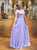 A-Line Cheap Beading Prom Dresses Chiffon Evening Dress With Sleeve VB5273