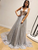A-Line Sleeveless Silver Modest Fashion Custom Unique Deisgn Long Prom Dresses VB5278