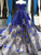 Royal Blue Off Shoulder Evening Dresses Ball Gown Sequined Plus Size Formal Gown VB5292