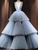 Light Sky Blue Deep V neck Ball Gown Long Prom Dress Cheap Formal Evening Dress VB5295