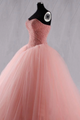Pink Sweetheart Beaded Cute Long Prom Dresses Quinceanera Formal Evening Gowns VB5299