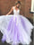 A Line V Neck Long Prom Dress Backless Cheap Tulle Party Dresses VB5312