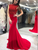 Mermaid Red Long Prom Dress Sexy Beauty Backless Prom Dress VB5325