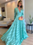 Chiffon Cheap Prom Dress Beauty Long Sleeve V Neck Prom Grown VB5330
