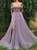 Vintage Off The Shoulder Prom Dress Beauty Tulle Prom Grown With Sleeve VB5331
