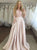 Two Piece Pearl Pink Prom Dress Beauty Lace Cheap Prom Grown With Sleeve VB5342